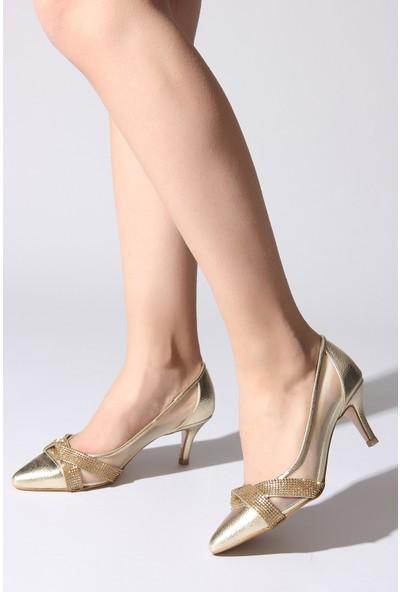 Rovigo Plus Kadın Dore Ayakkabı