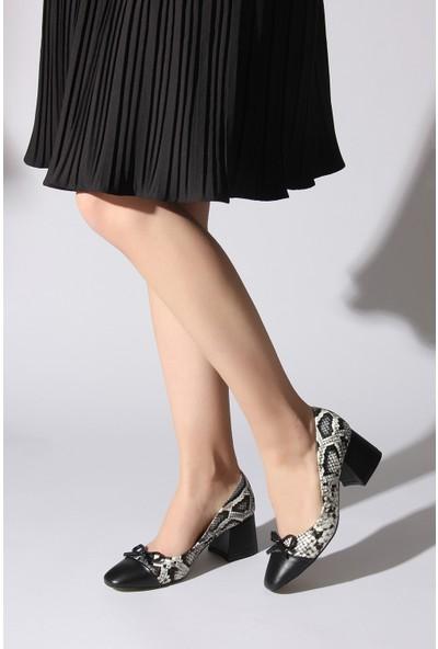Rovigo Plus Kadın Siyah - Beyaz Ayakkabı