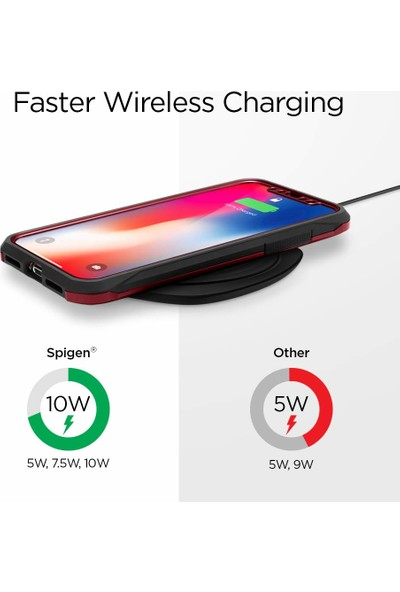 Spigen Essential F305W 10W IP67 Suya Dayanıklı Hızlı Kablosuz Şarj Cihazı (Qi Sertifikalı Tüm Cihazlar ile Uyumlu) Black - 000CH25906