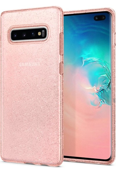 Spigen Samsung Galaxy S10 Plus Kılıf Liquid Crystal Glitter Rose Quartz - 606CS25763