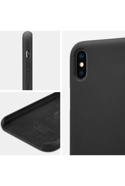 Spigen Apple iPhone XS / iPhone X Kılıf Silikon Fit Black - 063CS25651