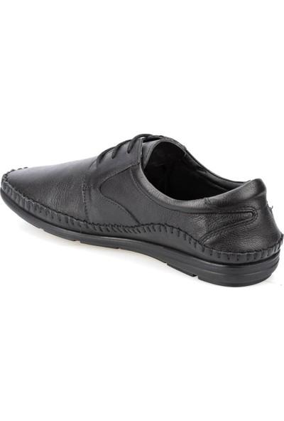 Polaris 5 Nokta 91.100499.M Siyah Erkek Deri Ayakkabı