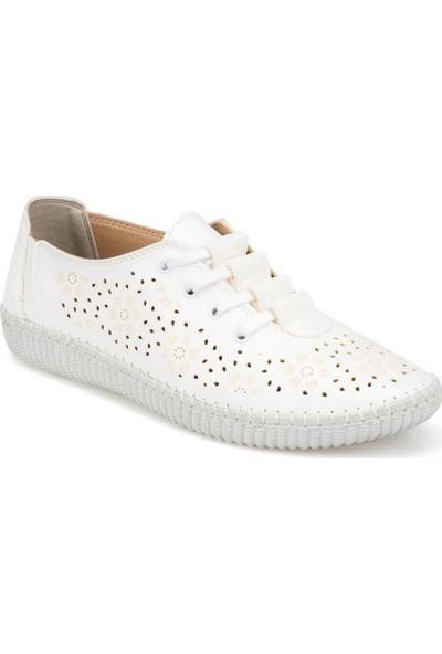 Polaris 91.158416.Z Beyaz Kadın Klasik Ayakkabı