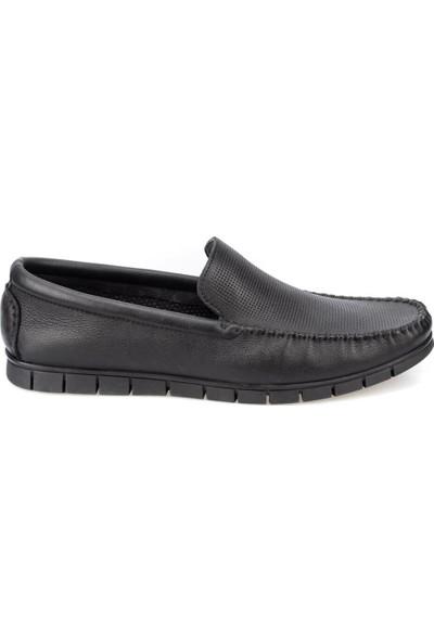 Polaris 5 Nokta 91.100575.M Siyah Erkek Deri Klasik Ayakkabı