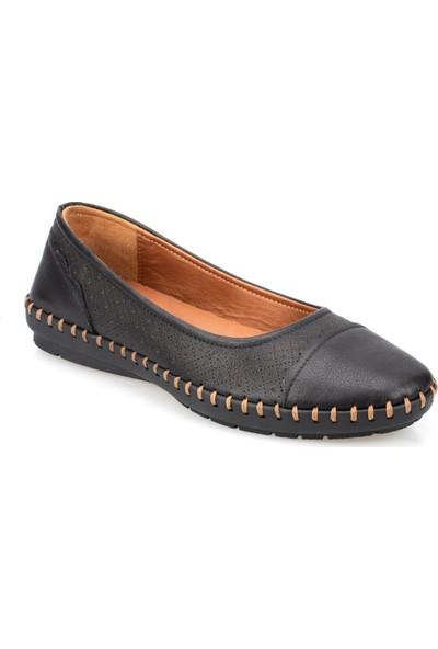 Polaris 91.100776.Z Siyah Kadın Deri Ayakkabı