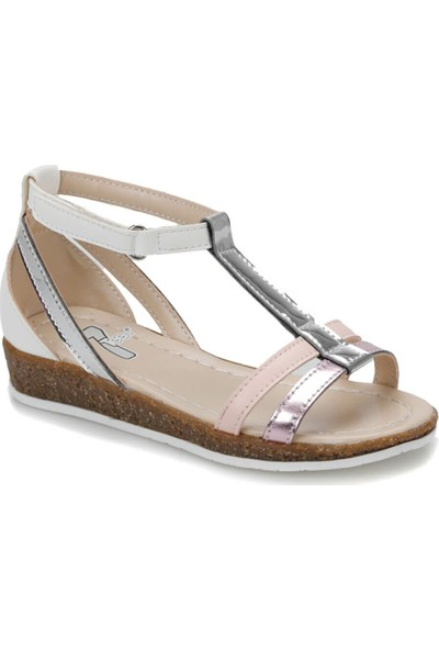 Seventeen Bandi Gümüş Sarı Kız Çocuk Sandalet