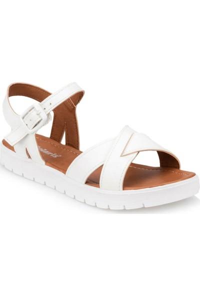 Polaris 91.311538.Z Beyaz Kadın Sandalet