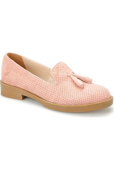 Miss F Ds19041 Pudra Kadın Loafer Ayakkabı