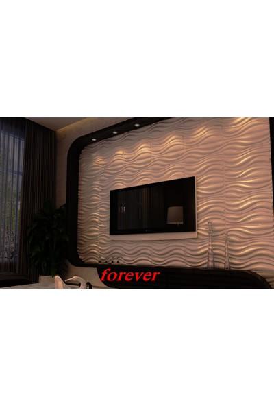 Duvarım Boyanabilir 3 Boyutlu Pvc Duvar Panelli Forever