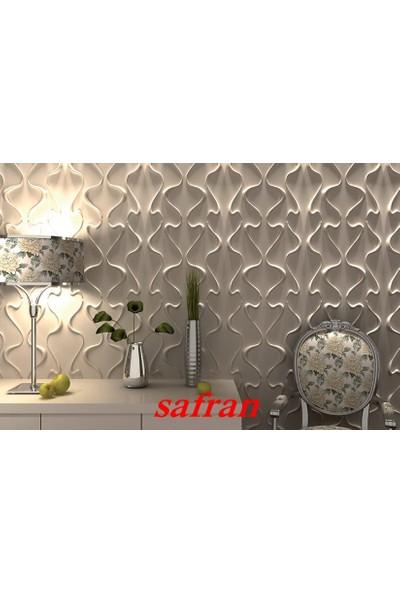 Duvarım Boyanabilir 3 Boyutlu Pvc Duvar Panelli Safran