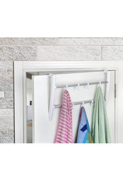 Redro Home Pratik Banyo Kapı Arkası Askılık 2 Bölmeli Beyaz Renk