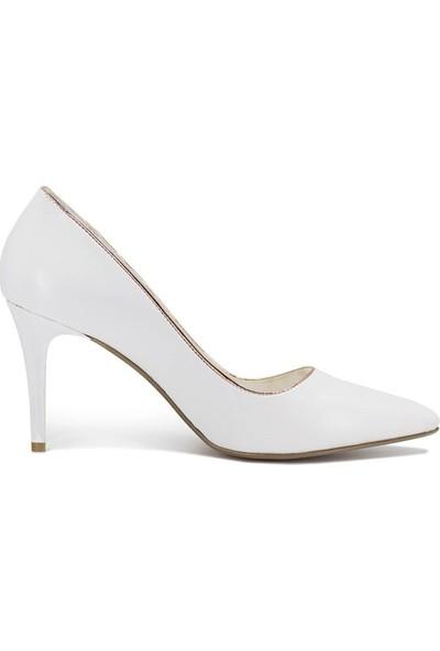 Eşle 9Y-217-02-1 Kadın Stiletto Beyaz