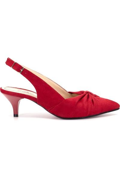 Eşle 9Y-255-19 Kadın Topuklu Ayakkabı Kırmızı