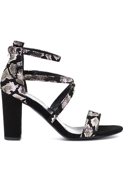 Eşle 9Y-6107 Kadın Abiye Ayakkabı Siyah