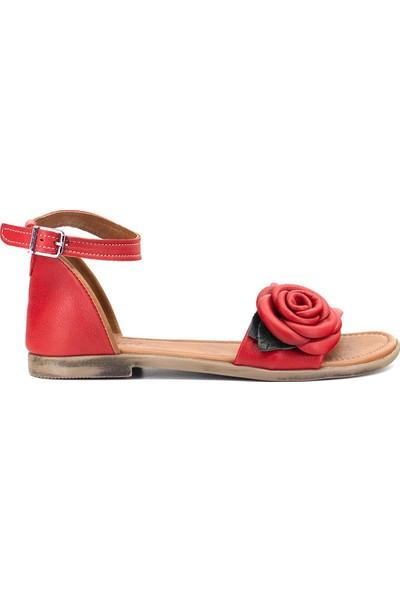 Eşle 9Y-Z-DPP03 Kadın Sandalet Kırmızı