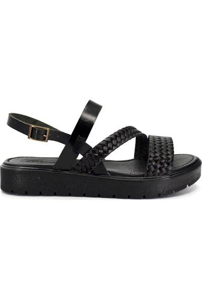 Eşle 9Y-Z-VRL329 Kadın Sandalet Siyah
