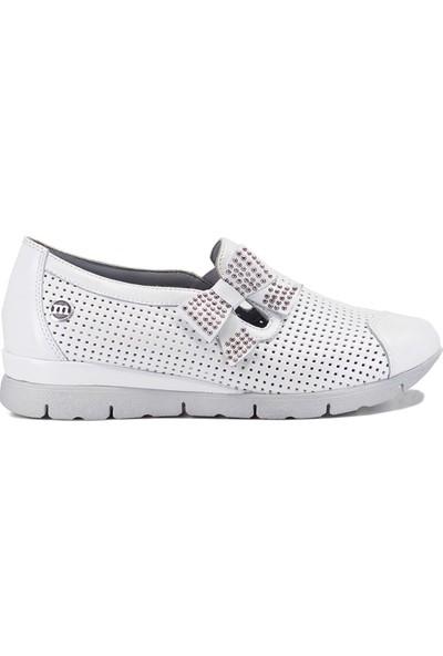 Mammamia D19YA-695 Kadın Günlük Ayakkabı Beyaz