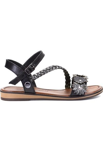 Mammamia D19YS-1340 Kadın Deri Sandalet Siyah
