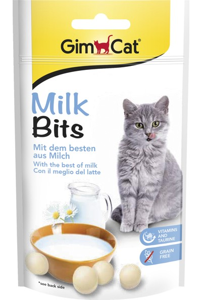 Gimcat Kedi Ödül Tableti Milk Bits Sütlü 40Gr