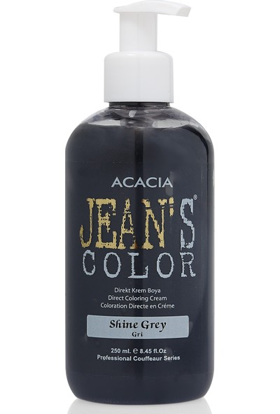 Jeans Color Su Bazlı Amonyaksız Saç Boyası (Gri-Shine Grey)250Ml