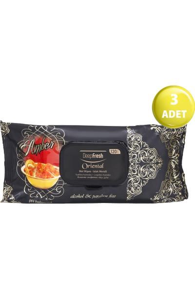 Deep Fresh Oriental Islak Mendil Amber 3'lü Paket 360 Yaprak (120*3)
