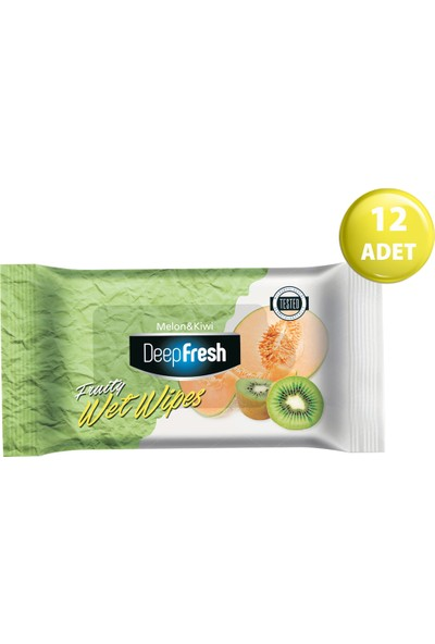 Deep Fresh Meyveli Islak Cep Mendil Kavun&Kiwi 12'li Paket 180 Yaprak (15*12)