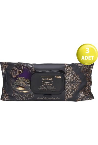 Deep Fresh Oriental Islak Mendil Oud 3'lü Paket 360 Yaprak (120*3)