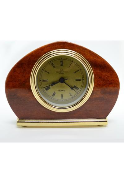Golden Rock Swiss Alarmlı Retro Masa Saati GRS-423