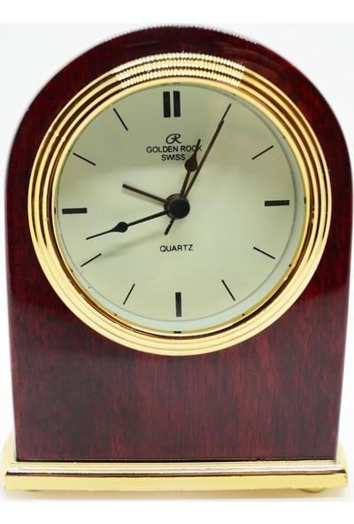 Golden Rock Swiss Alarmlı Retro Masa Saati GRS-196