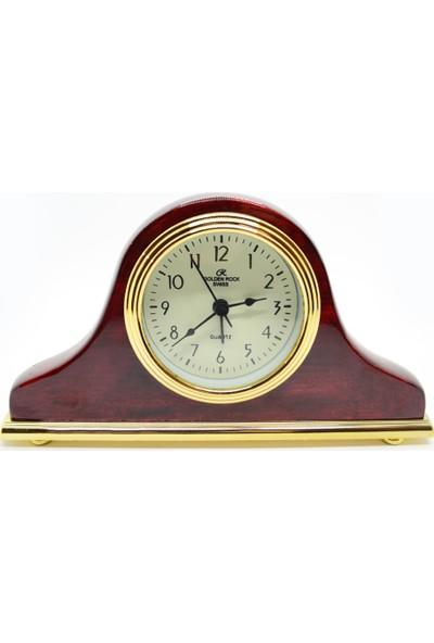 Golden Rock Swiss Alarmlı Retro Masa Saati GRS-284