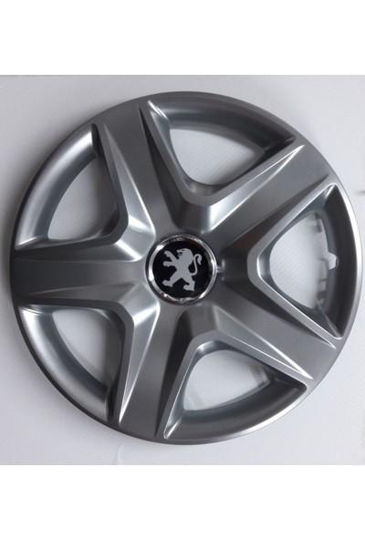 """Sjs Peugeot 206 Plus 14"""" Çelik Jant Görünümlü Kırılmaz Esnek Jant Kapağı Takımı"""