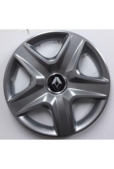 """Sjs Renault Clio 14"""" Çelik Jant Görünümlü Kırılmaz Esnek Jant Kapağı Takımı"""