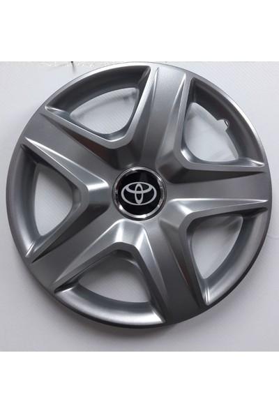 """Sjs Toyota Carina 14"""" Çelik Jant Görünümlü Kırılmaz Esnek Jant Kapağı Takımı"""