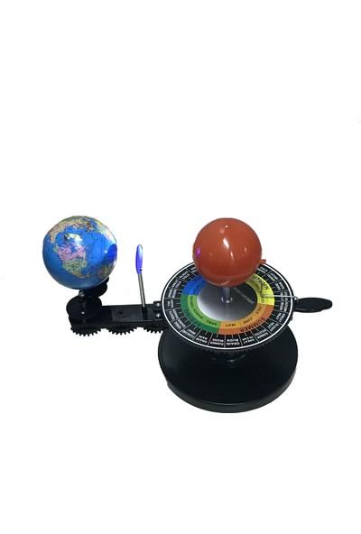 Ece Üç Küre Güneş Dünya Ay Modeli - Manüel Ve Işıklı - Montajlı