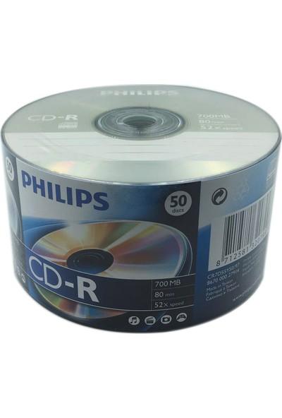 Philips 700 MB 50'lik CD-R 1 Paket