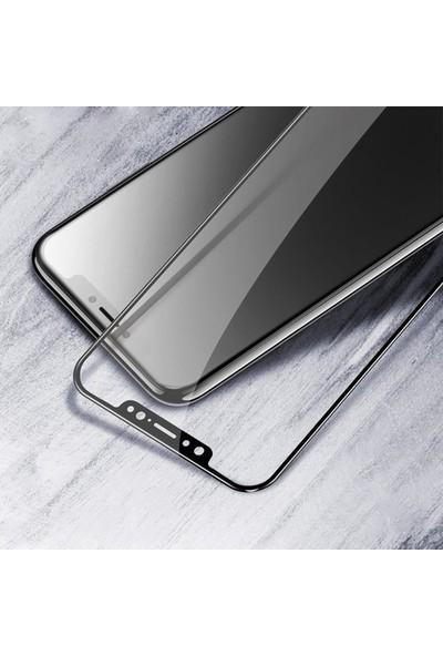 Telbor Xiaomi Mi 9 3D Kavisli Temperli Cam Ekran Koruyucu Film - Siyah
