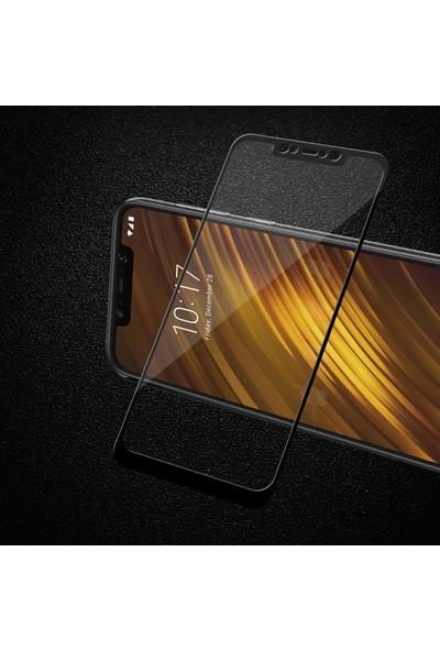 Telbor Xiaomi Mi 8 Lite 3D Kavisli Temperli Cam Ekran Koruyucu Film - Siyah