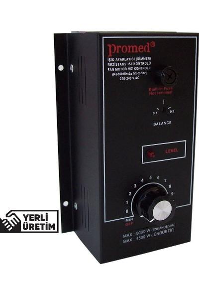 Promed Pano Tipi 2000 Watt Dimmer & Rezistans Fan Motor Devir Kontrol