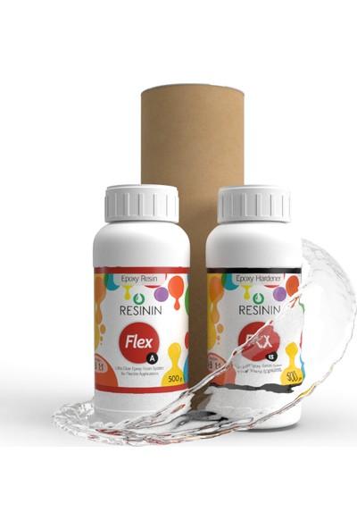 Resinin Flex 1000 Gr A+B Esnek Şeffaf Epoksi Döküm Reçinesi (Esnek Hacim)