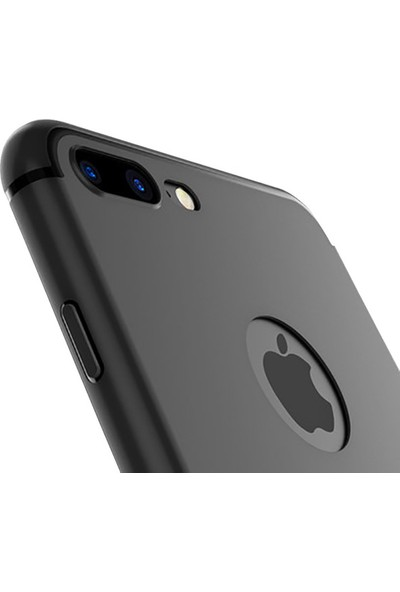 Çin Pazarı Apple iPhone 7 Plus Uyumlu Tam Korumalı Tıpalı Silikon Kılıf Kamera Tuş Tam Koruma