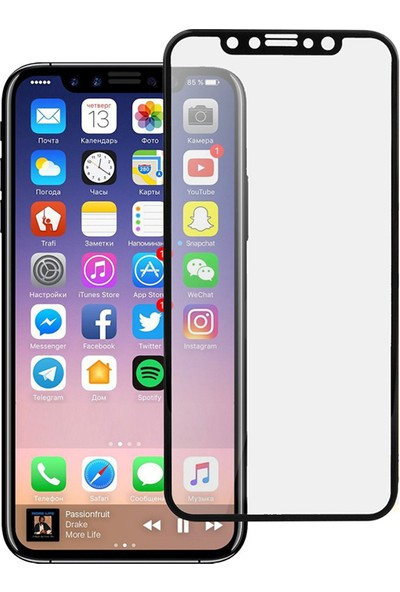 Ovi İPhone X 5D Ekran Koruyucu Cam