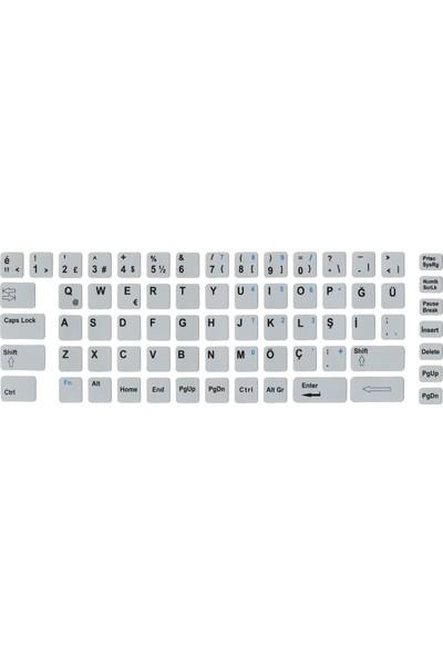 Notebookuzman Türkçe F Klavye Sticker Mat Gri Notebook Ve Pc Uyumlu