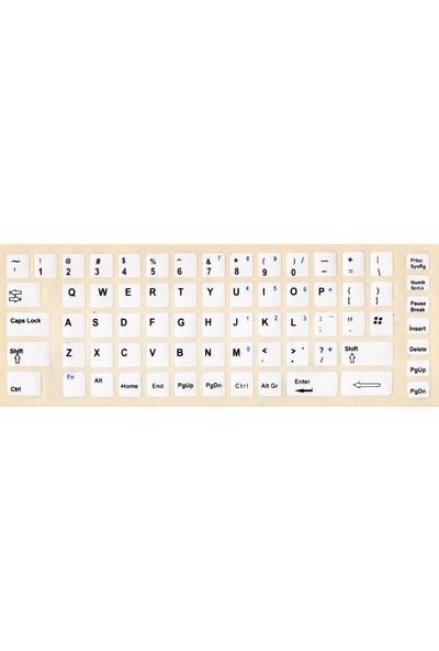Notebookuzman İngilizce Klavye Sticker Beyaz Renk Notebook Ve Pc Uyumlu
