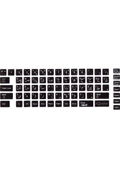 Notebookuzman Arapça Türkçe Klavye Sticker Siyah Renk Notebook Ve Pc Uyumlu