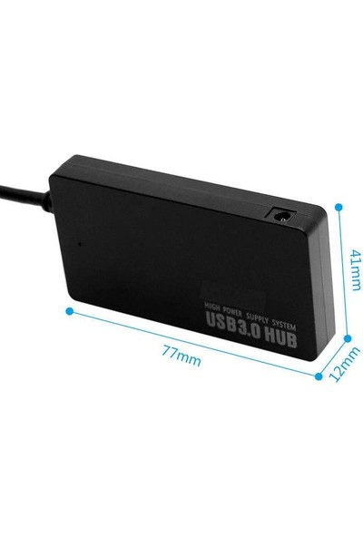 Onten Ultra Thin 4 Port Usb 3.0 Çoklayıcı 5 Gbps Yüksek Hızlı Macbook Bilgisayar Uyumlu Hızlı Şarj Smart Hub
