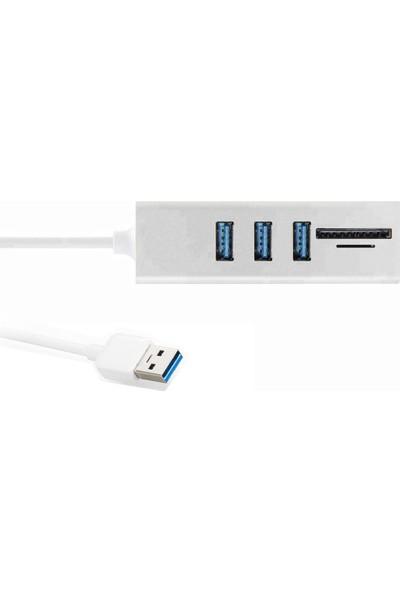 Onten 2 İn 1 3 Port Usb 3.0 Çoklayıcı Macbook Bilgisayar Uyumlu 5 Gbps Yüksek Hızlı Smart Hub Micro Sd Sdhc Sdxc T-Flash Hafıza Kartı Okuyucu 2 İn 1 Combo Card Reader