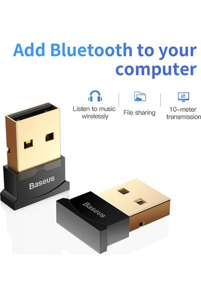 Baseus Mini Usb Bluetooth 4.0 Pc Kulaklık Gamepads Dongle Alıcı - Siyah