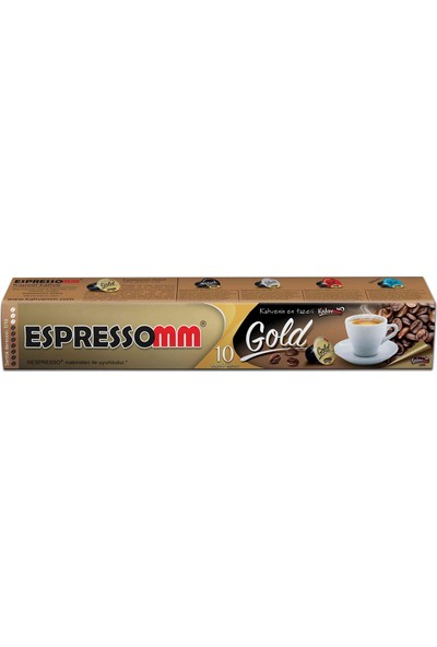 ESPRESSOMM Gold Kapsül Kahve (10 Adet) - Nespresso Uyumlu