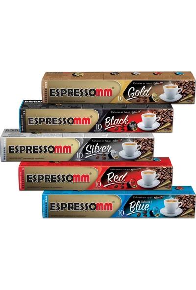 ESPRESSOMM Karışık Kapsül Kahve (50 Adet) - Nespresso Uyumlu
