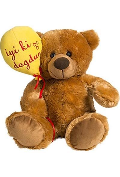 Özgüner İyi ki Doğdun Balonlu Romantik Peluş Ayı 40 cm
